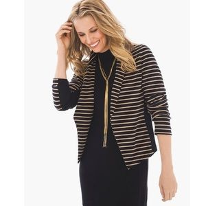 CHICO'S | ZENERGY SIENNA STRIPED BLAZER CARDIGAN